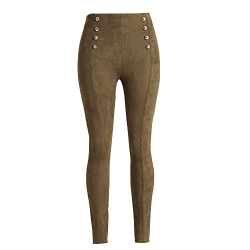 Femmes Pantalon Collants Stretch Court Haute Vert MORCHAN Crayon Leggings Jeans Pantalon Skinny Taille Slim Knickerbockers Arme Combinaisons Jeggings wf76qAI
