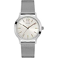Guess Dress Watch for Men, Stainless Steel Case, White Dial, Analog -W0921G1