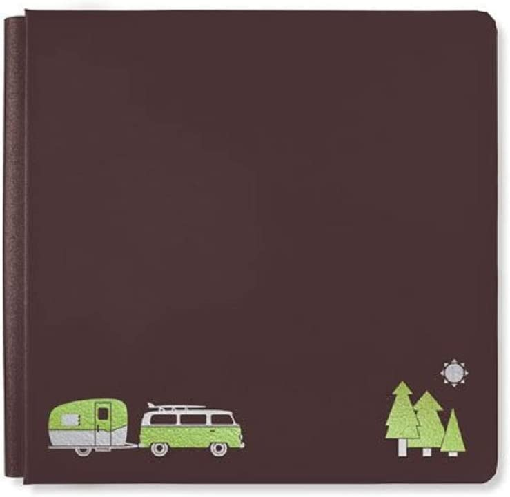Limited Edition Creative Memories 12x12 Chocolate Open Road Album Cover Brown Travel & Camping Scrapbook