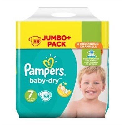 Pampers Baby-Dry - Pañales para bebé, talla 7, 58 unidades Trafford Park Manchester M17 1NX UK.