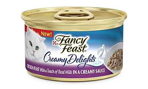 Purina Fancy Feast Creamy Delight Chicken Feast With a Touch of Real Milk IN A CREAMY SAUCE (12-CANS) (NET WT 3 OZ EACH)