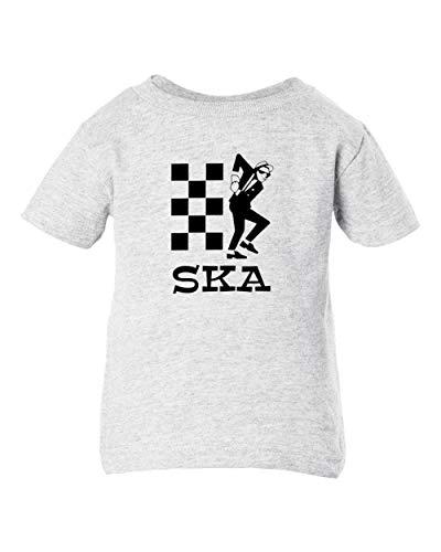 Mari Kyrios SKA Punk Rudeboy 2 Tone Ash Baby Toddler Cotton Child Ash T-Shirt