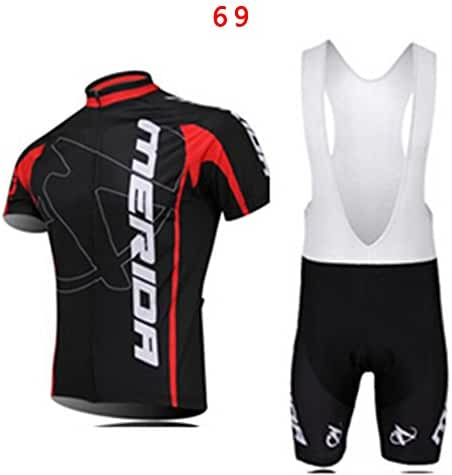 Outdoor Sport Men's Team Short Sleeve Cycling Jersey and Bib Shorts Set Size S-XXXL