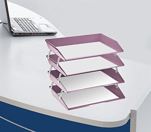 Color Morado Acrimet Bandeja Portadocumentos 4 Niveles para Cartas Facility