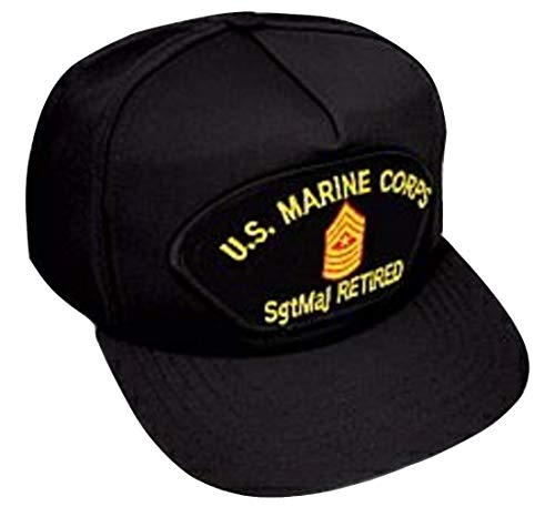 US Marine Corps Sergeant Major (SgtMaj/E-9) Retired Black Ball Cap
