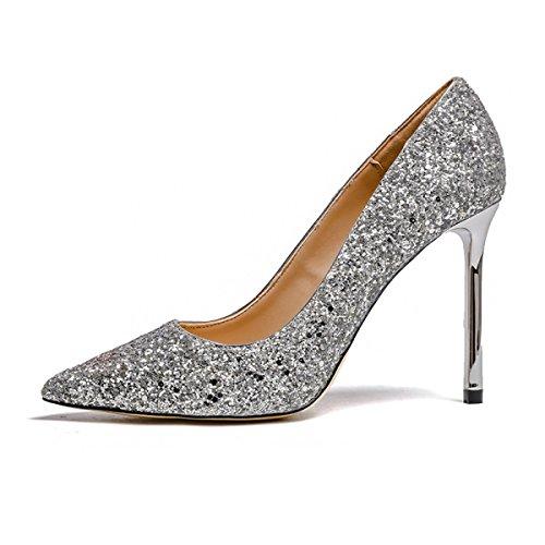Mariage Bout Talons 10cm Élégant Paillettes Pointu 5 Belles E Couleurs Femme Chaussures À d4wz6zqFT