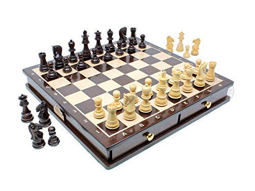 House of Chess - Ringy Rosewood / Boxwood Chess Set Pieces Galaxy Staunton 3