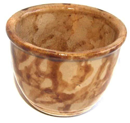 (Antique McCoy Rockingham Glass Spongeware Desert Cup)