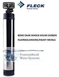 WHOLE HOUSE FLUORIDE ARSENIC HEAVY METAL FILTER 1 5 BONE CHAR CARBON STEEL COVER