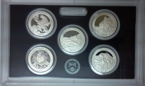 2012 S 5 Coin – Silver National Park Proof