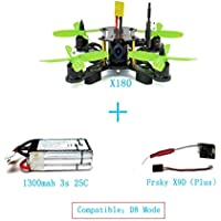 QWinout X180 DIY BNF Assembled Frame Kit with OSD FPV HD CAM Frysky D8 RX Battery Superlight Mini RC Racing Drone NO TX