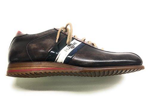 Harris - Zapatos de cordones de Piel para hombre Marrón BLU BROWN Marrón Size: 42 1OBxGr1