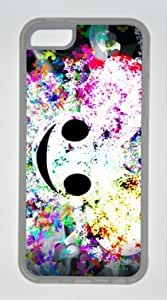 Diy iphone 5 5s case Popular Abstract Design Smiley DIY Rubber TransparentIphone 5 5S Perfect By Custom Service
