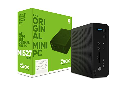 ZOTAC ZBOX-MI527NANO-U ZBOX M Series Mini PC 7th Gen Core i3-7100U CPU Intel HD Graphics Barebones System