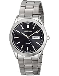 Seiko Mens SNE039 Stainless Steel Solar Watch