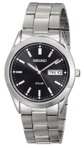 (Seiko Men's SNE039 Stainless Steel Solar Watch)