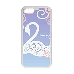 Elegant Swan And flowers personalized creative custom protective phone Iphone 5C