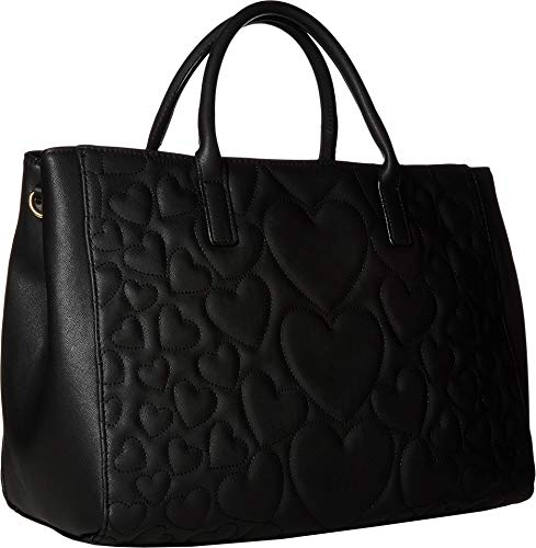 Betsey Johnson Women's Structured Quilt Satchel Black One Size by Betsey Johnson (Image #1)'