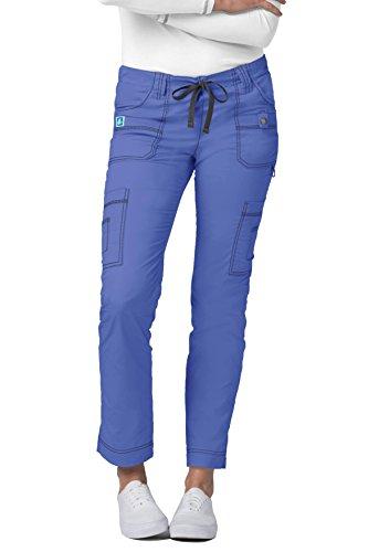 Adar Pop-Stretch Jr. Fit Low-Rise 11-Pocket Slim Cargo Pants - 3108 - Ceil Blue - ()