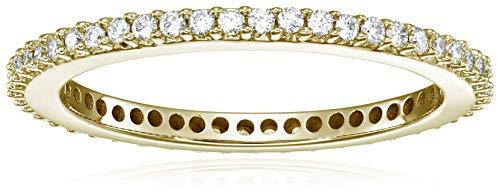 Vir Jewels 1/2 cttw Diamond Eternity Ring 14K Yellow Gold Wedding Band Size 6 by Vir Jewels (Image #3)