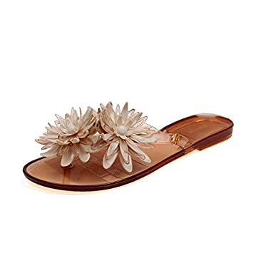 a2c6a5131 Beach Slippers New Summer Fashion Girls All-Match Daisy Flip Flops Jelly  Shoes Plastic Beach Slippers