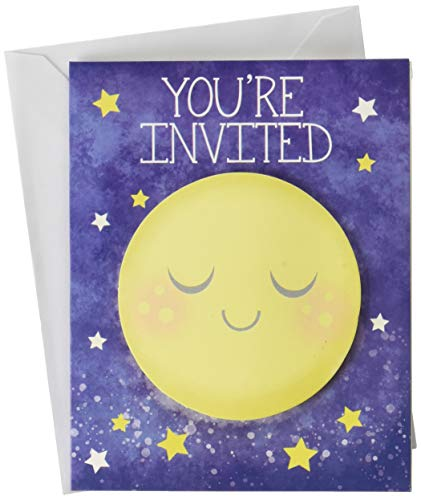Creative Converting 322270 To the To the Moon and Back Gender Neutral Baby Shower Invitations (8), One Size, Multicolor]()