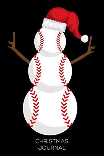 Christmas Journal: Christmas In July, Summer Journal, Baseball Snowman Notebook, Vacation Planner Diary ()