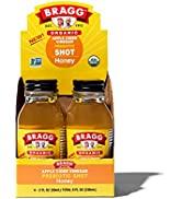 Bragg Organic Apple Cider Vinegar Shot with Honey – 2 Oz ACV Shot – USDA Certified Organic, 4 Pack