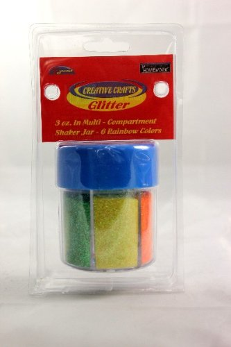 Multi color Glitter Shaker- Rainbow 48 pcs sku# 1794977MA by DDI