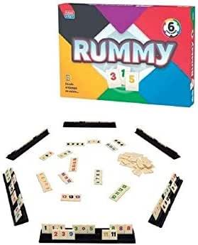 Falomir Rummy 6. Juego de Mesa. Clásicos, Multicolor (1): Amazon.es: Juguetes y juegos