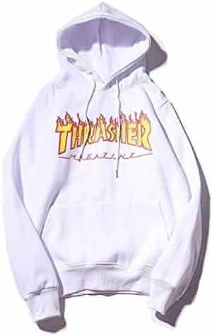 94c620c96d6 Mazuss Fashion Flame Hoodie for Men Women Loose Plus Velvet Sweater Hoodie  Pullover