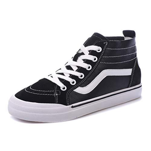 Sport Casual Schuhe Schuhe Schwarz LIANGXIE Im Helfen Schuhe Mit Schuhe Zu Kleine Student Women's Leder Skateboard Hoch Inneren Weiße Casual Gürtels des SSTUqRf