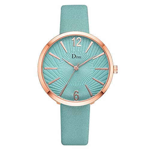(Watches for Women,Ladies Classic Big Face Dial WristWatch for Women Brand Disu Analog Quartz Watches with Leather Band(F,Gifts for Goddess))