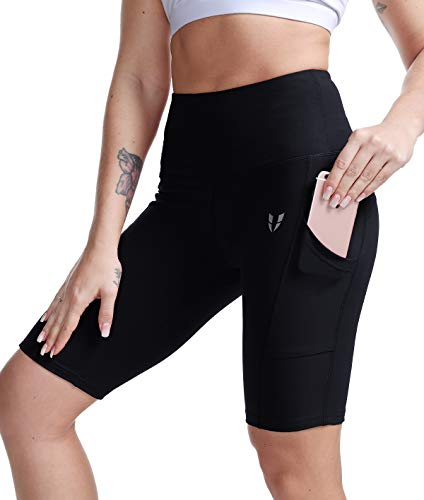 c588071a34 FIRM ABS Women's High Waist Yoga Gym Long Compression Shorts with Pocket