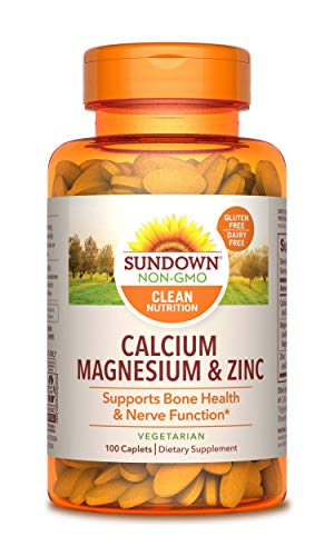Sundown Naturals® Calcium, Magnesium and Zinc High Potency, 100 Caplets (Packaging May Vary) (Calcium Zinc Tablets Magnesium 100)