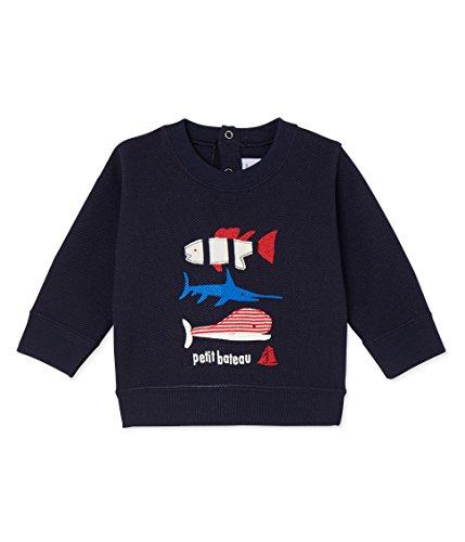 Petit Bateau Baby Boys' Freddy, Navy, 6m (Bateau Petit Cotton Sweatshirt)