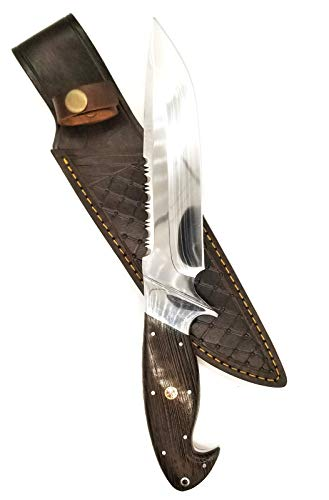 DKC Knives DKC-UL-102-WW Bear Claw Hunter Wenge Wood Fixed Blade Loveless Style Bowie Hunting Knife Custom Hand Made 12
