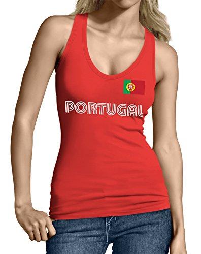 SpiritForged Apparel Portugal Soccer Jersey Junior's Tank Top, Red XL