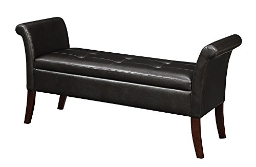 Convenience Concepts Designs4Comfort Garbo Storage Bench, Espresso - Traditional Style Bench