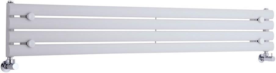 Radiador de Diseño Horizontal - Blanco - 236mm x 1600mm x 78mm - 517 Vatios - Revive