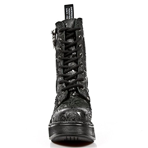 Womens 8358 S1 Black Boots Nr M Rock NEWROCK New aFW6Tq6C