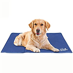 Sunshine Dreams Large Dog Cooling Mat (Blue) 90cm x 50cm | Keeps Your Larger Pets Cool & Calm During Summer | Non… Click on image for further info.