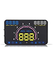 5.8inch Hud Heads Up Display Keenso Universal Car HUD Head Up Display with OBD2 and EUOBD Interface Speeding Warning