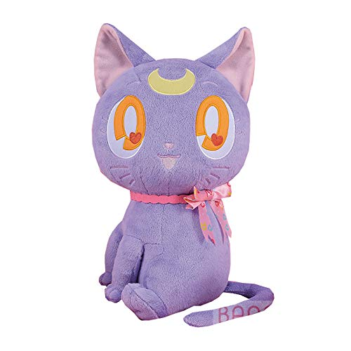 """Sailor Moon Luna Black Guardian Cat 14"""" Character Huge Plush Toy Soft Doll Collection Anime Art"""