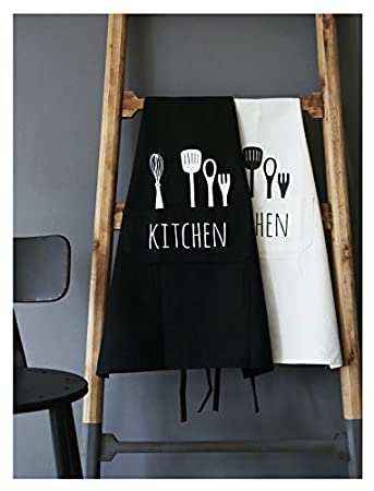Lina Daily Cotton Unisex Kitchen Apron with 2 Pockets and Extra Long Ties for Cooking, Baking, Crafting, Gardening, BBQ (Grey)