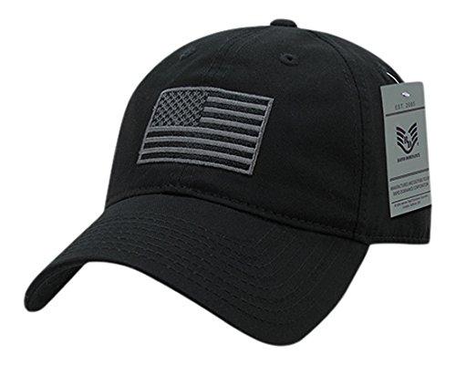 (Rapiddominance Tonal Flag Relaxed Graphic Cap, Black)