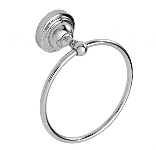 Fidelity Bathroom Accessories- Wall Mounted Chrome Towel Ring By Showerdrape MyBathroomWorld