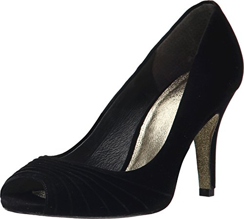 Leather And Velvet Pump - 6