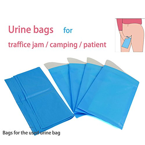 4pcs/lot Travel Urine Collection Bag Plastic Waterless Qu...