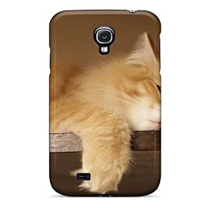 Mialisabblake Galaxy S4 Well-designed Hard Case Cover Funny Lazy Cat Protector
